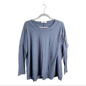 Carly Jean Los Angeles Long Sleeve Tee Blue XS